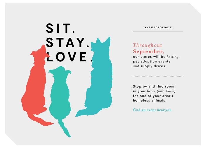 Anthropologie Sit. Stay. Love