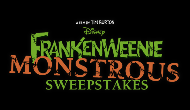 Frankenweenie Monstrous Sweepstakes!