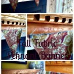 fall fabric pennant banner tutorial