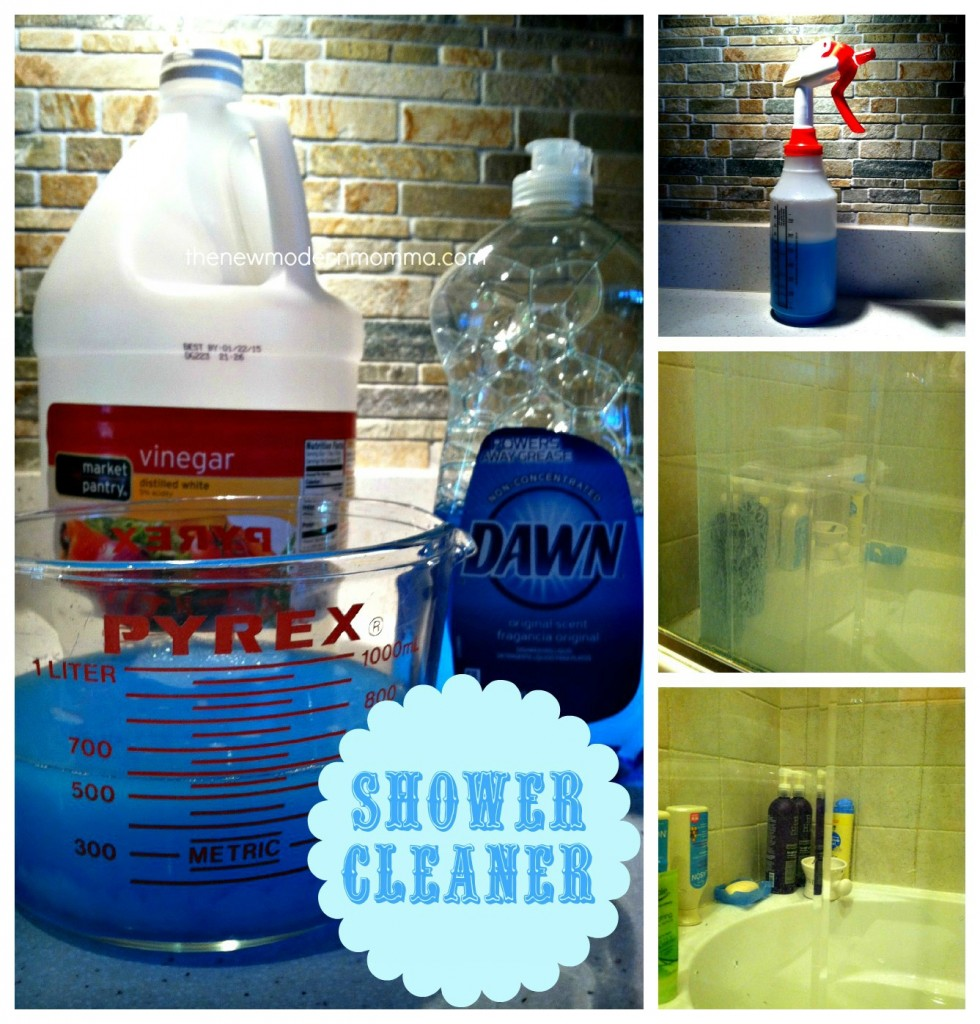 dawn and vinegar shower cleaner