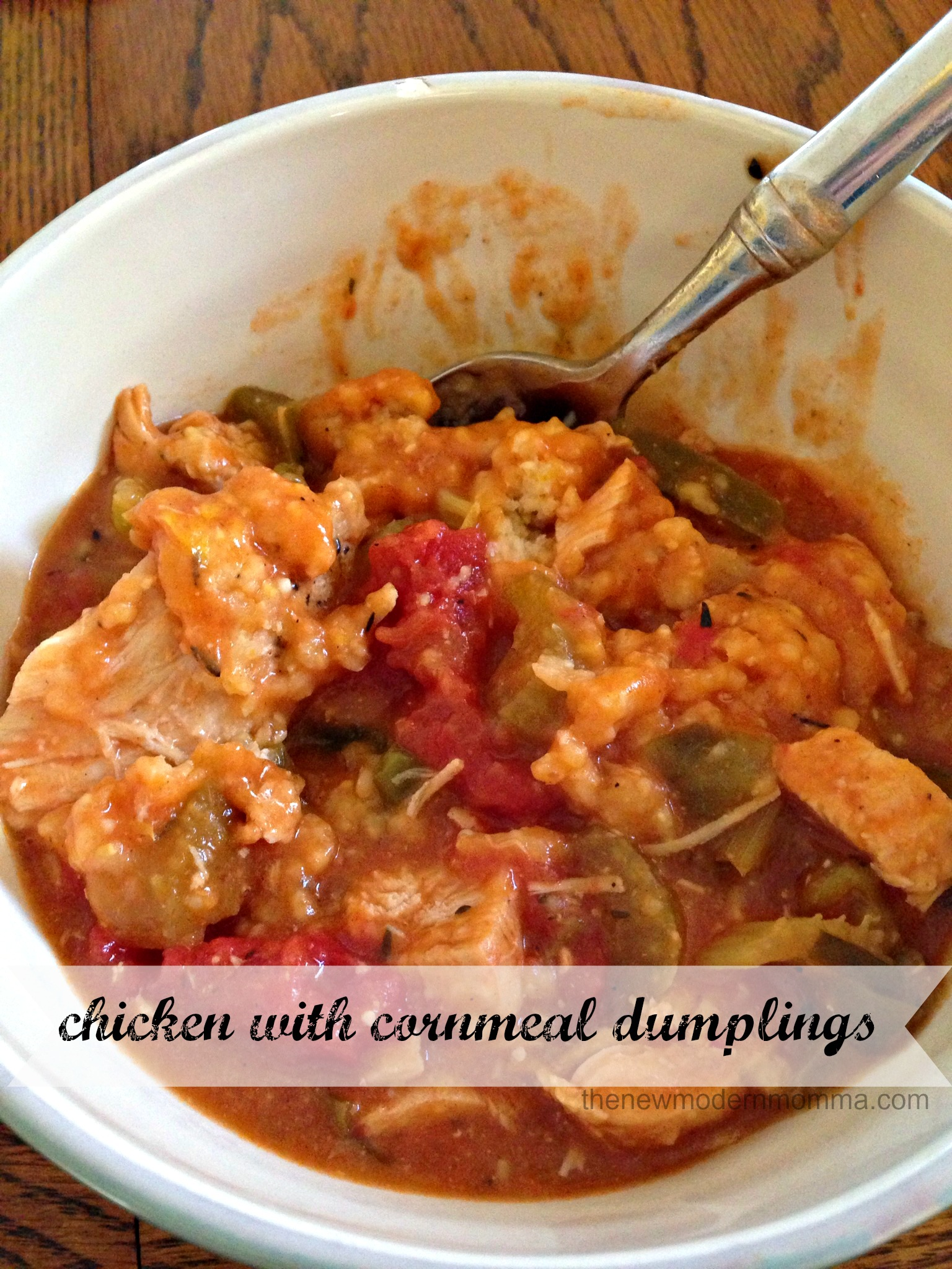 chicken with cornmeal dumplings :: tasty tuesday