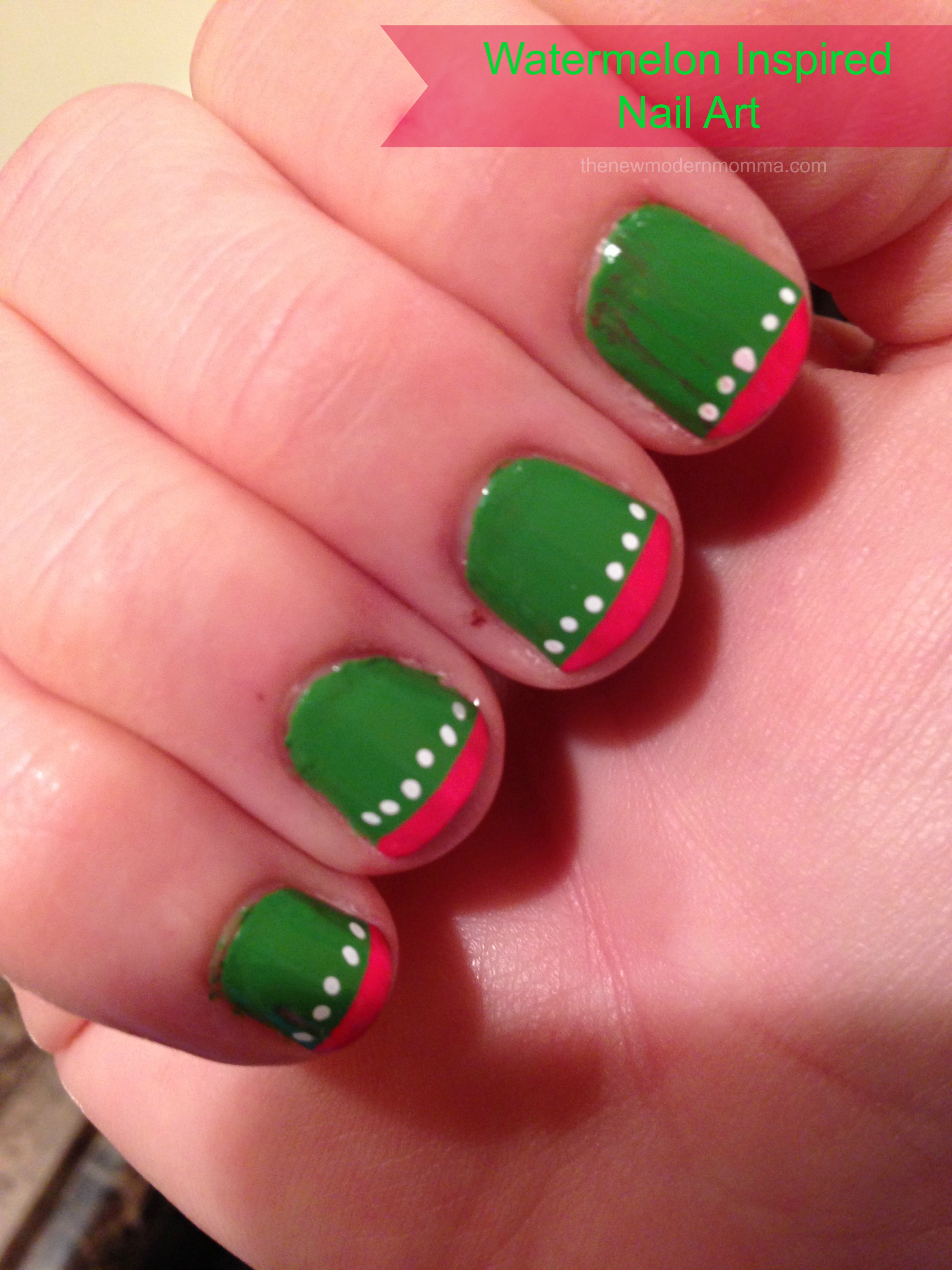 Watermelon Inspired Nail Art Iheartmynailart The New Modern Momma