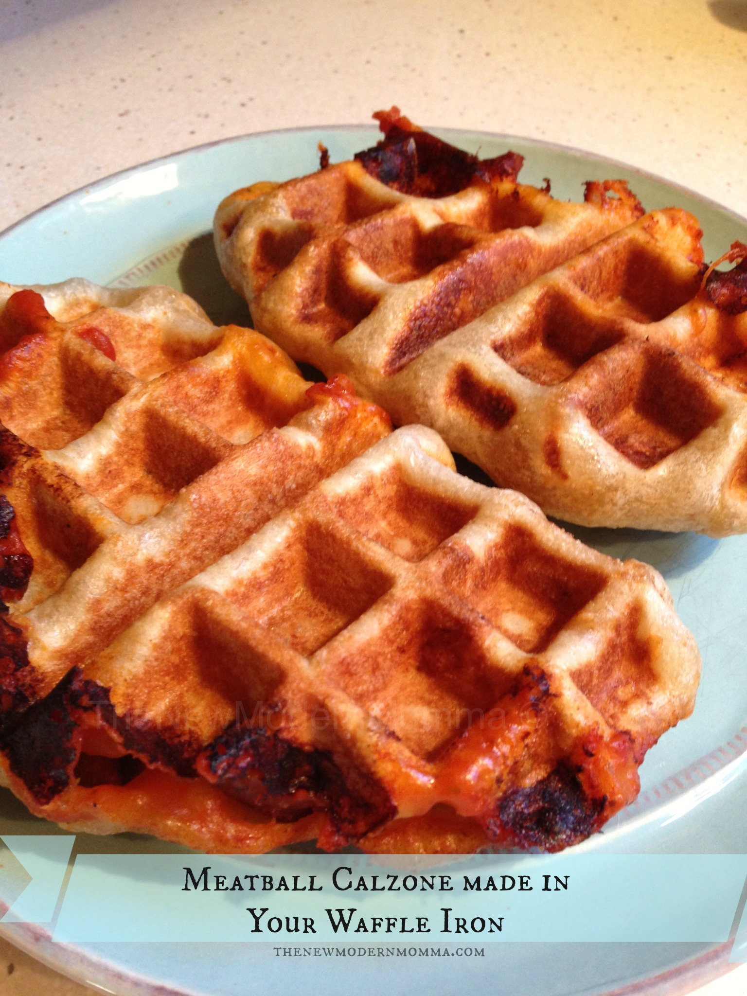 Meatball Calzone in Your Waffle Maker :: Tasty Tuesday