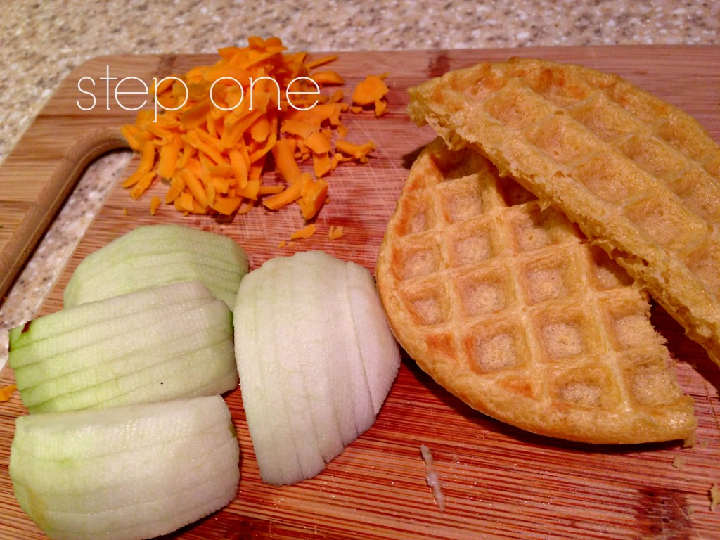 waffelize your wednesdays :: apple eggo-dillas via @thenewmodernmom