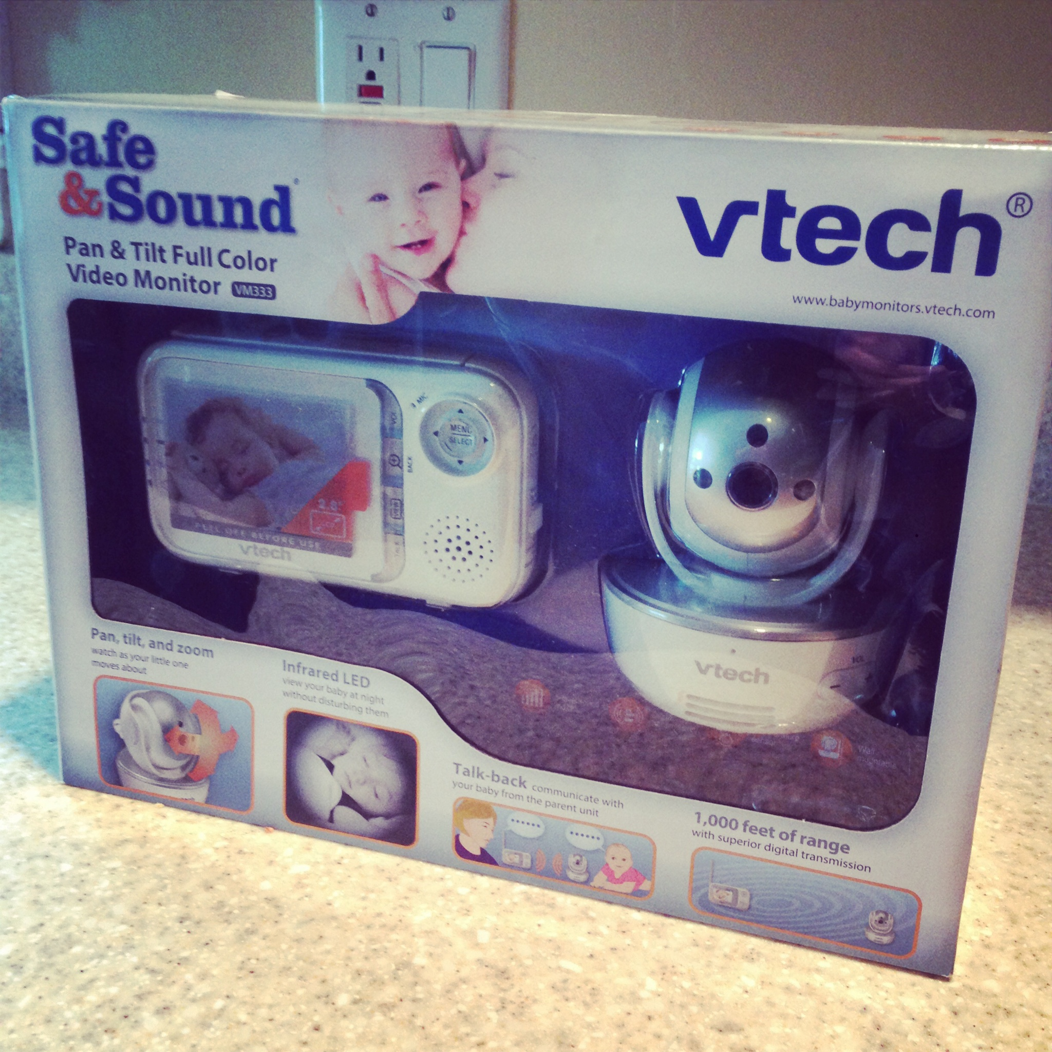 vtech safe and sound baby monitor the new modern momma. Black Bedroom Furniture Sets. Home Design Ideas