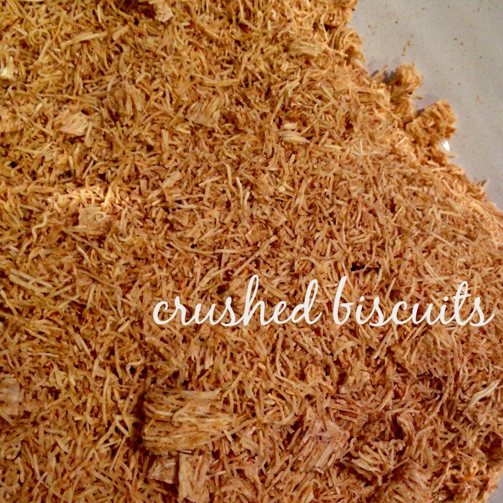 crushed biscuits