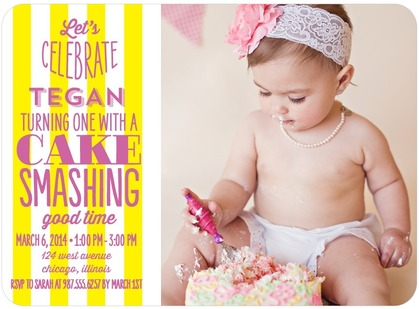 tiny prints first birthday invite