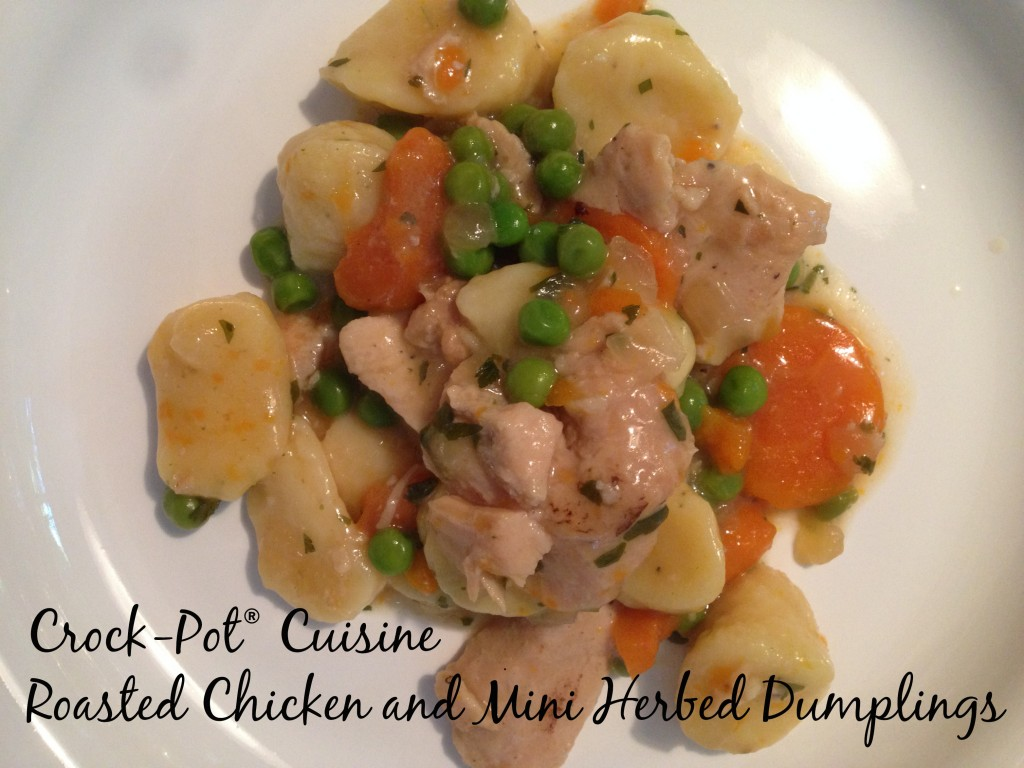 Roasted Chicken and Mini Herbed Dumplings
