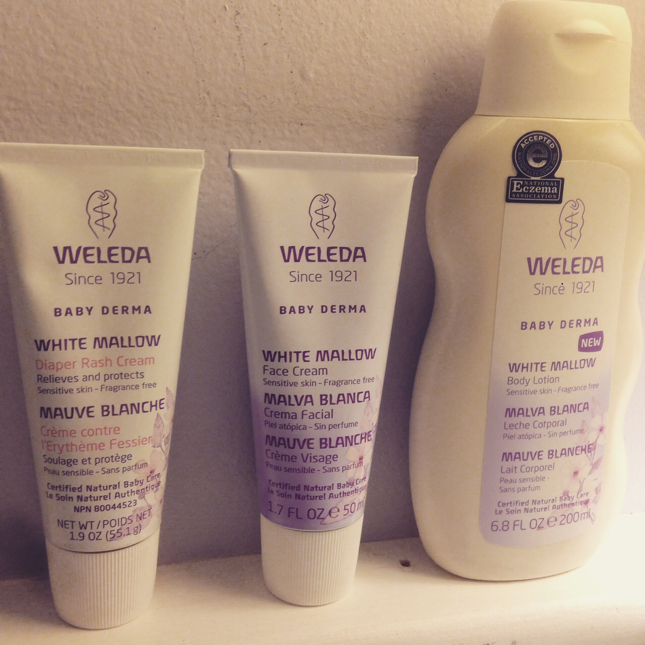 Weleda Baby Derma White Mallow Collection