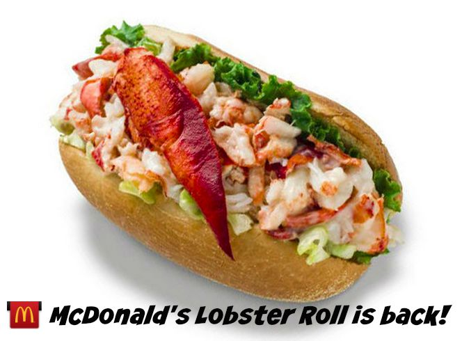 ... New England // McDonald's Lobster Roll is Back! - The New Modern Momma