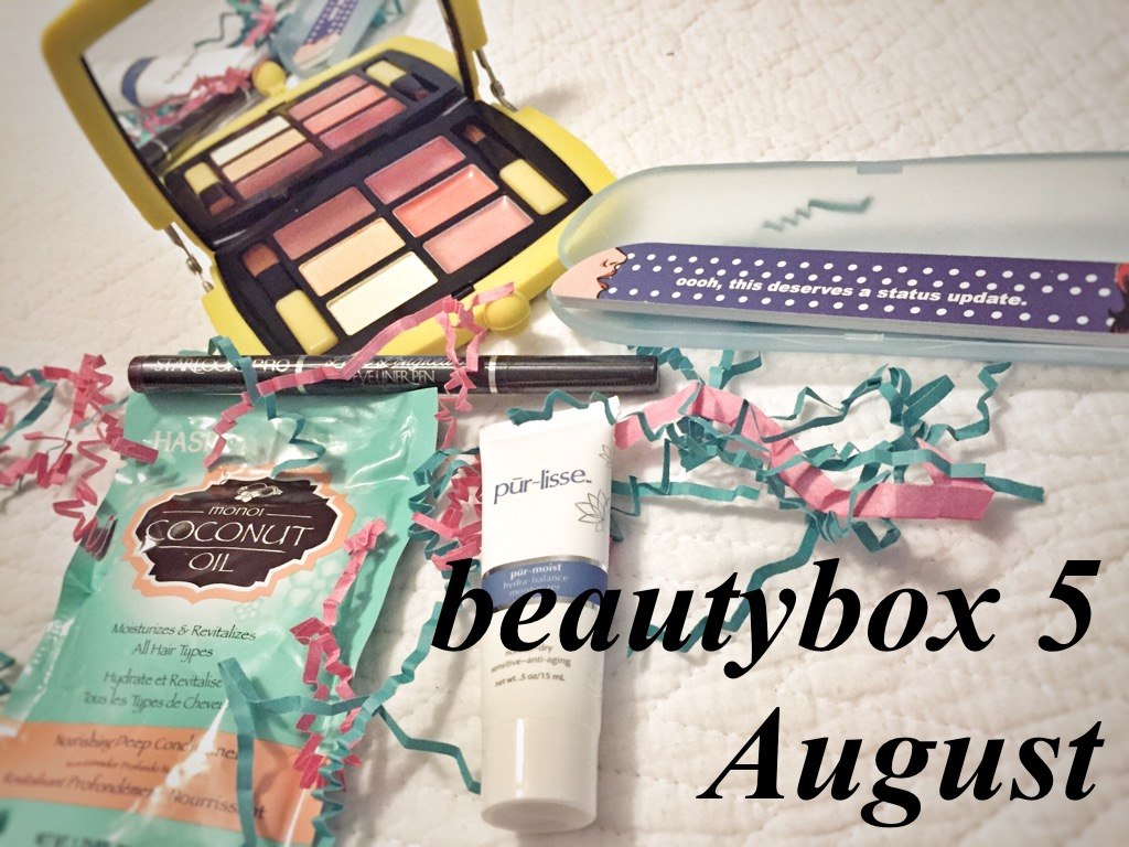 beautybox 5 // august // unboxing