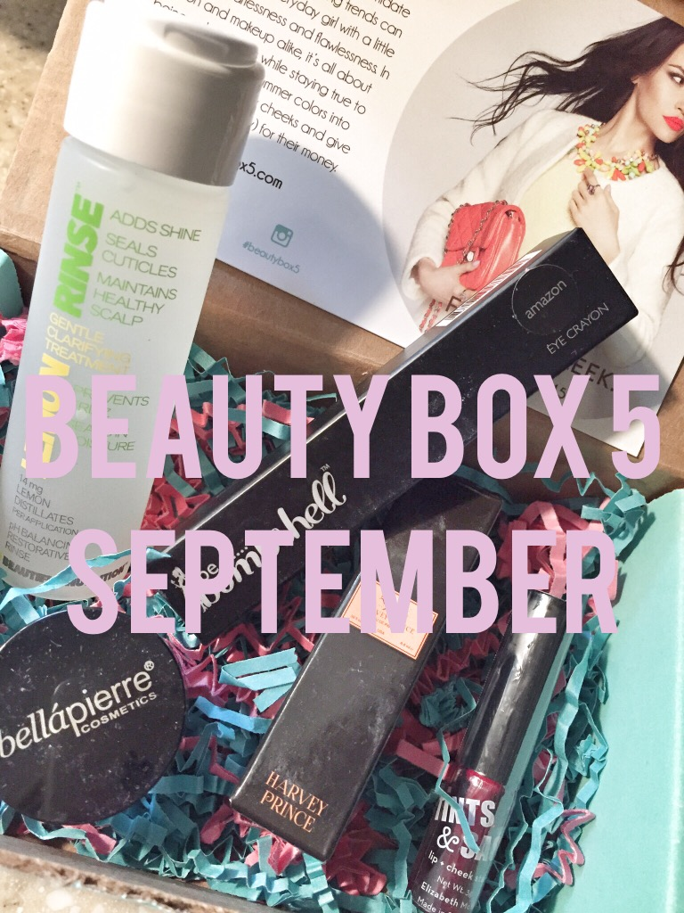 beautybox 5 / September / Fall: On Fleek!