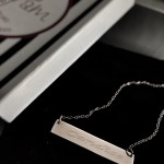 The Pink Monogram Bar Necklace