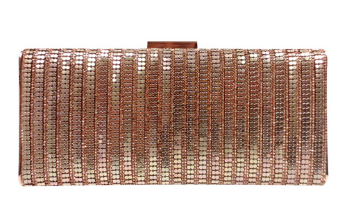 rose gold mesh minaudiere