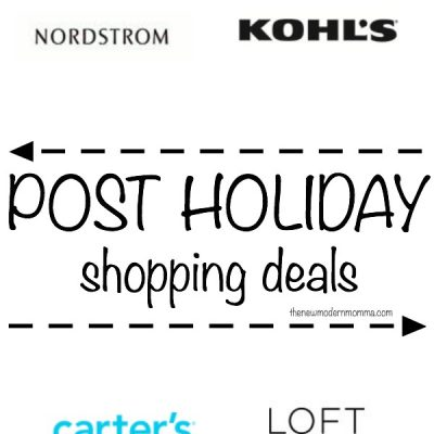 Post Holiday Shopping Deals