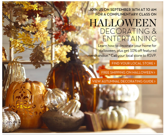 Pottery Barn FREE Halloween Decorating Class!