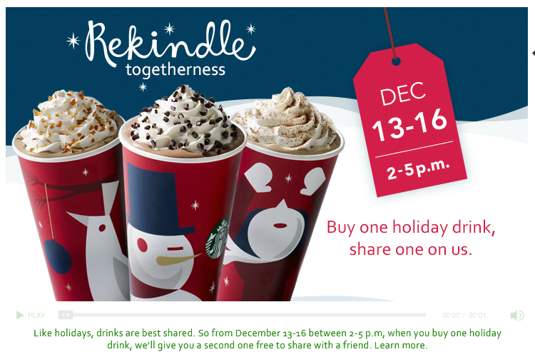 Starbucks BOGO is on AGAIN!