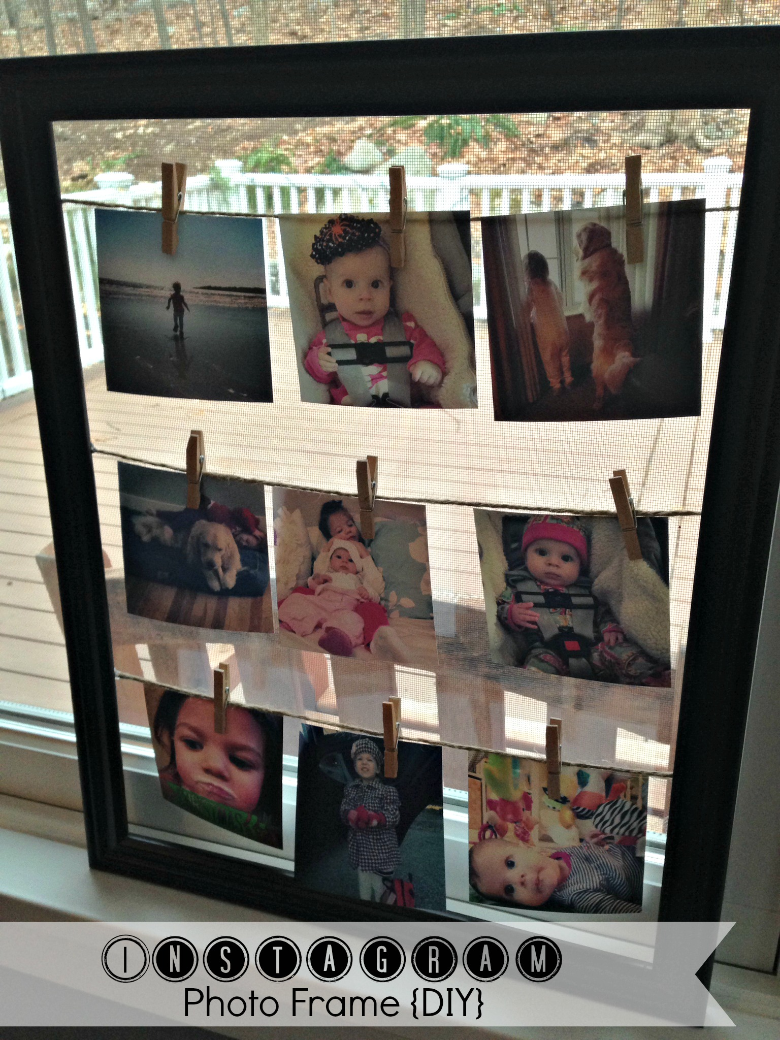 Instagram Photo Frame {DIY}