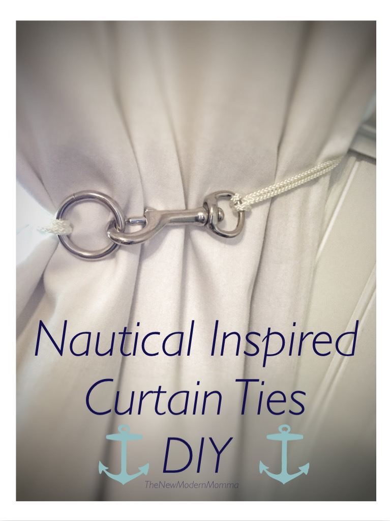 Nautical Curtain Tie Back // DIY