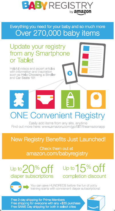 AMAZON.com | Baby Registry New Benefits!
