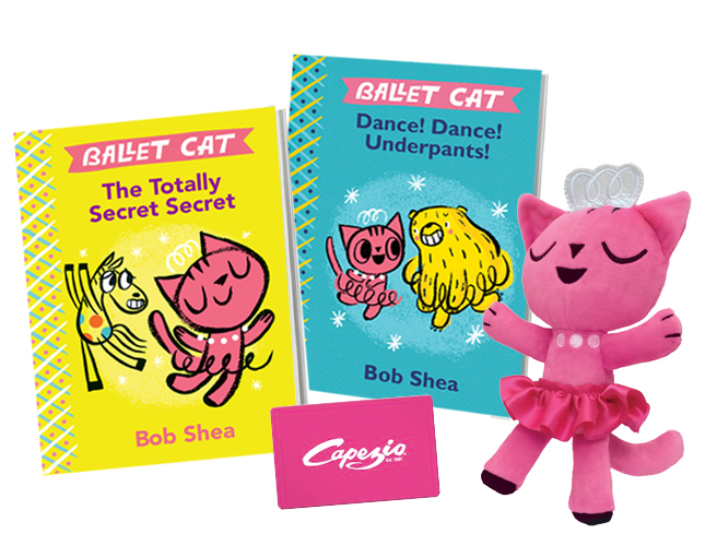Adorable! | BALLET CAT Book Series by Bob Shea (Picture Book Giveaway)
