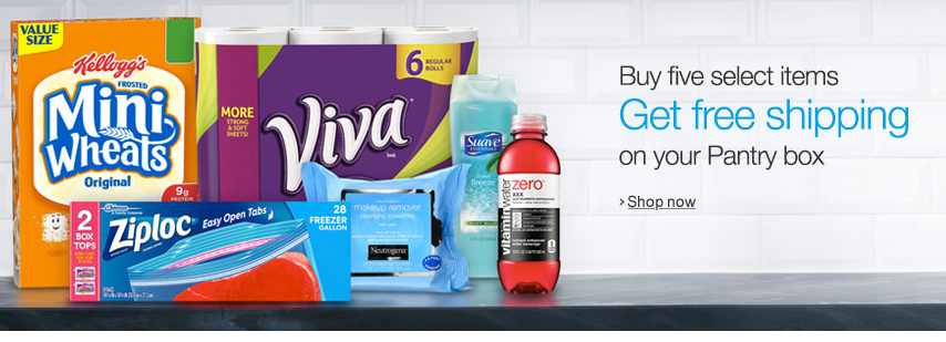 Amazon Prime Pantry: Free Delivery with Purchase of Five Qualifying Items!