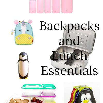 Backpacks and Lunch Essentials for Back to School