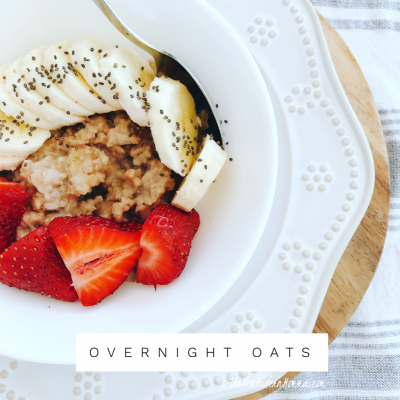 Healthier Choices and My Favorite Oatmeal Recipe